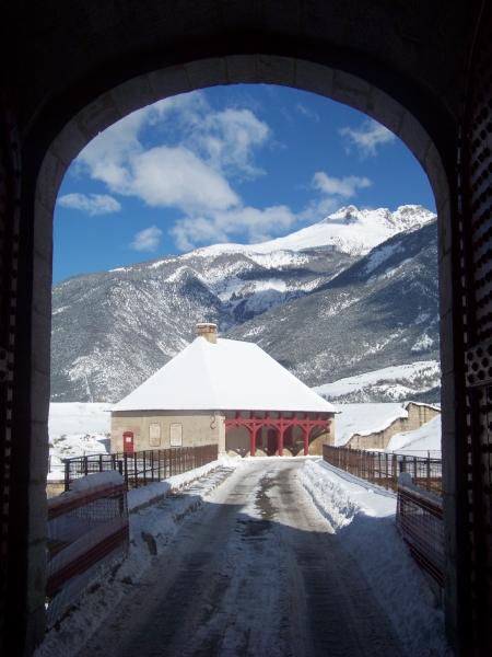 Porta Norte di Mont-Dauphin in inverno