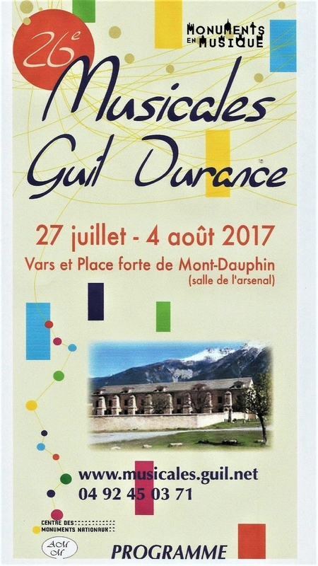 Musicales Guil Durance à Mont-Dauphin 26e édition