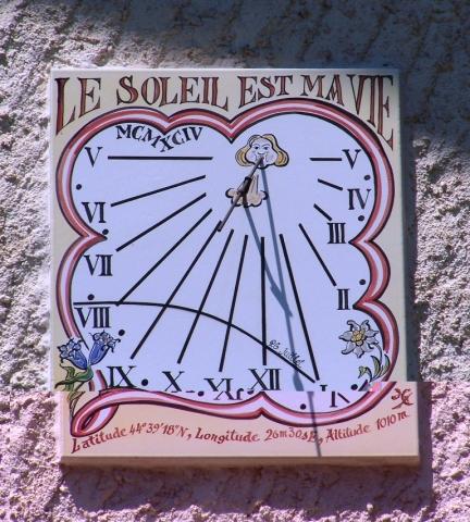 Cadran solaire à Risoul, 1994