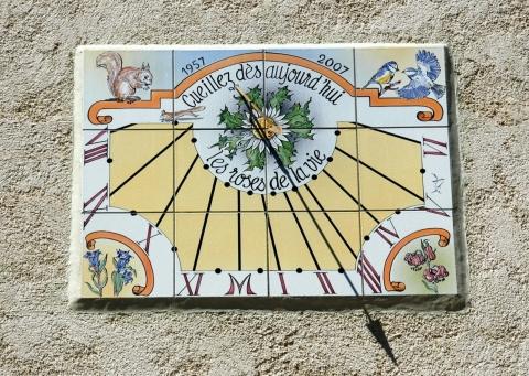 Cadran solaire à 04 La Seyne le Alpes, 2007, 80x60 cms.