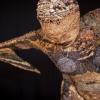 Femme oiseau, sculpture textile, par Barbara Fougnon Atelier du Poisson qui Vole