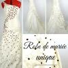 Création melilange couture -  robe de mariée