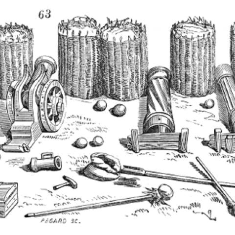 Gabions en osier du XVII siècle