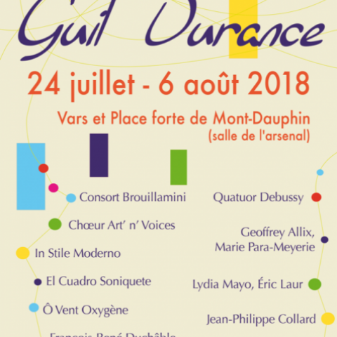 Musicales Guil Durance - concerts 2018