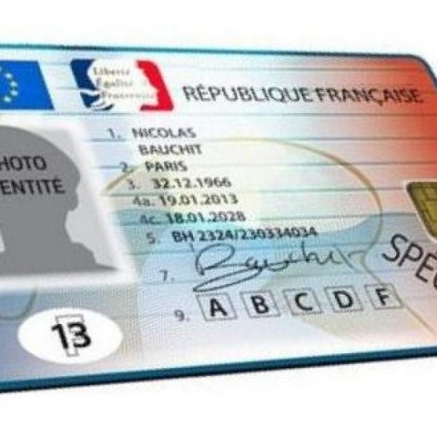 Carte nationale identité biométrique