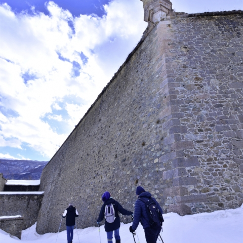 neige fortifications raquettes