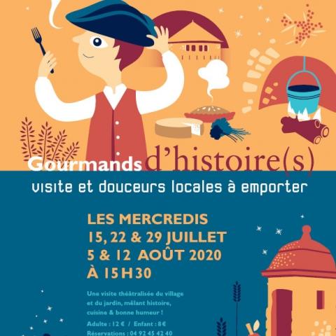 affiche gourmands d'histoire(s) mont-dauphin visite théâtre nourriture locale