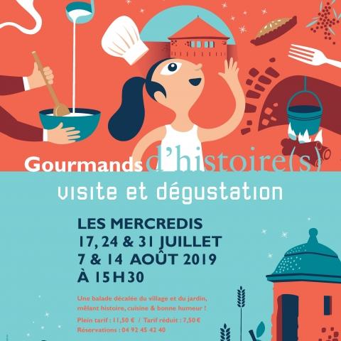 Affiche Gourmands d'histoire(s)