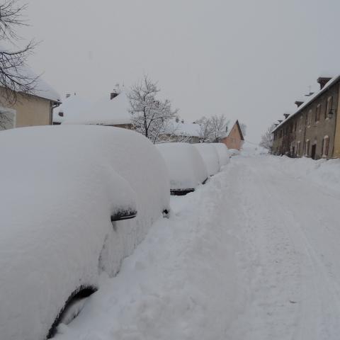 Neige à Mont-Dauphin