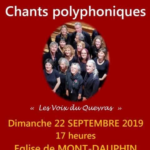 polyphonies à Mont-Dauphin le 22/9 17h