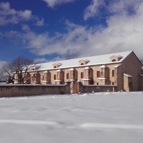 L'arsenal de Mont-Dauphin en hiver