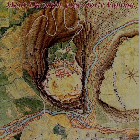 Plan d'époque de la place forte de Mont-Dauphin